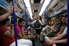 The London underground on a hot summer day Stock Image