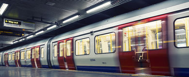 London underground. Inside view of London underground Stock Photography