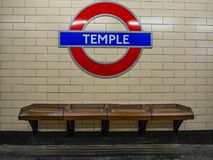 London Underground. London 10/06/2017: The symbol of underground is one of the most famous symbols of London like the other famous buildings.  It is well known Royalty Free Stock Photos