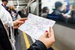 London Underground Map Royalty Free Stock Images