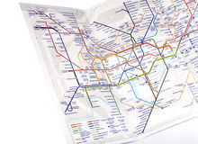 London Underground Map Stock Photography
