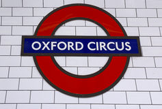 London Underground Oxford Circus Station Royalty Free Stock Photos