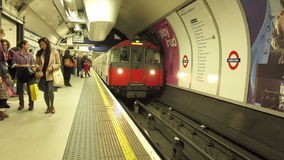 London Underground. People on the subway platform in London Underground, UK stock footage