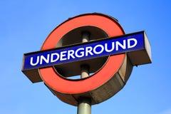 London Underground sign. London, United Kingdom, Mar 11, 2011: Close up of a London Underground sign at Kilburn Park tube station on the Bakerloo line Stock Image