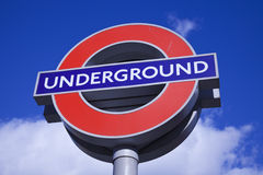 London Underground sign. Seen in King's Cross area Royalty Free Stock Photography