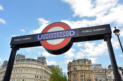 Free London Underground Sign Royalty Free Stock Photography - 55815387