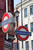London Underground sign at Covent Garden Stock Photography
