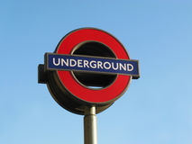 London underground sign. In England Stock Photography