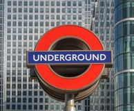 London Underground sign Royalty Free Stock Image