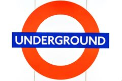 London Underground sign in London. London Underground sign, London  England Stock Images