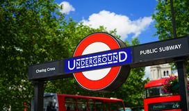 London underground sign. royalty free stock image