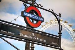 London underground sign Stock Photos