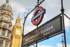 London underground sign Stock Photo