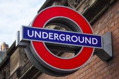 London Underground Sign Stock Image