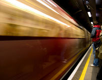 London underground station. London underground train Stock Photos