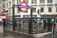 London underground station entrance Stock Image