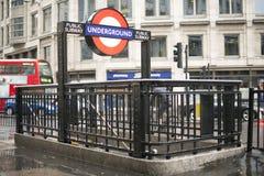 London underground station entrance Stock Image