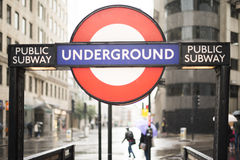 London underground station entrance Royalty Free Stock Photos