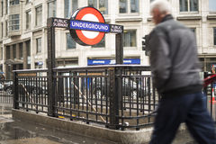 London underground station entrance Stock Photo