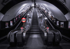 London Underground Station. Stairs and way out Stock Photos