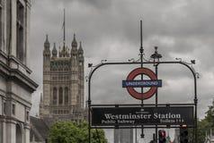 London underground station, Westminster Stock Photo