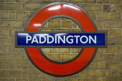 London Underground. London 10/06/2017: The symbol of underground is one of the most famous symbols of London like the other famous buildings.  It is well known Stock Photography