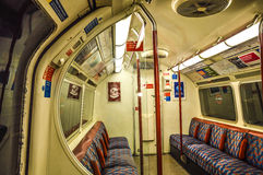 London underground train inside Royalty Free Stock Photos
