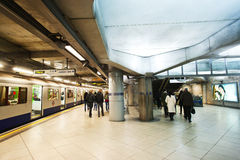 London underground train station royalty free stock photos