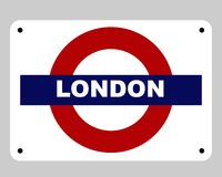 London Underground tube sign Stock Photography