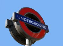 London Underground Tube Sign. London underground sign, commonly known as the Tube is the oldest tube network in the world Royalty Free Stock Image