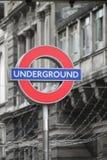 London Underground tube sign Stock Image