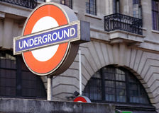 London underground tube station Royalty Free Stock Image