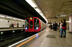 London Underground. LONDON, UK - MAY 12 2015:London Underground.The oldest tube line in the world is the Metropolitan line, which opened on the 10th of January Royalty Free Stock Photography
