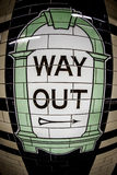 London underground way out sign. In detail Stock Photo