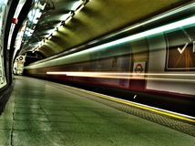 London underjordisk Charing korsstation Royaltyfri Bild