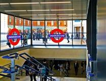 London underjordisk station Arkivfoto