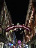 Carnaby Christmas Party. London, United Kingdom – December 3, 2015: Christmas decoration at Carnaby Street Carnaby Christmas Party stock photo