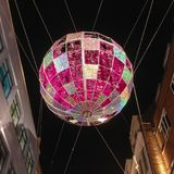 Carnaby Christmas Party. London, United Kingdom – December 3, 2015: Christmas decoration at Carnaby Street Carnaby Christmas Party royalty free stock photo