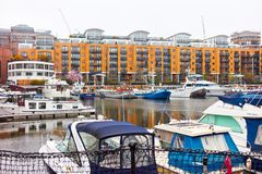 St Katharine Docks in London Stock Photography