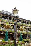 The Dickens Inn, historical pub in London. London, United Kingdom - APRIL 10, 2018: The Dickens Inn, historical pub in St Katharine Dock, London Royalty Free Stock Photo