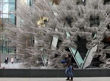 `Forever Bicycles`, work of Ai Weiwei in London stock photos