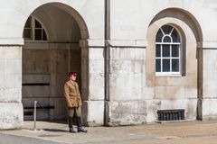 A Soldier Looks Bemused stock images