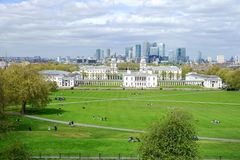 University of Greenwich from Royal Observatory stock images