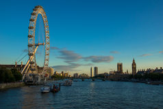LONDON, UNITED KINGDOM - AUGUST 9 2015: The London Eye Royalty Free Stock Photography
