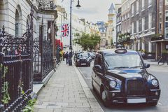 Detail of Mayfair street, in an affluent area of London city cen. LONDON, UNITED KINGDOM - August 2nd, 2014: detail of a street in Mayfair, in an affluent area Stock Images