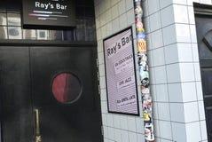 Entrance of a bar in Dalston Royalty Free Stock Photos