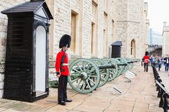LONDON, UNITED KINGDOM - AUGUST 21, 2017 : Royal Guard at Tower Stock Photo