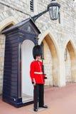 LONDON, UNITED KINGDOM - AUGUST 22, 2017 : Royal Guard at Windso Royalty Free Stock Photo