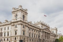 Beautiful architecture in Mayfair, in London city centre. LONDON, UNITED KINGDOM - August 12th, 2014: beautiful architecture  featuring the Her Majesty Revenue Royalty Free Stock Photo
