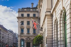 Beautiful architecture in London cty centre. LONDON, UNITED KINGDOM - August 17th, 2014: beautiful architecture in London cty centre Royalty Free Stock Image